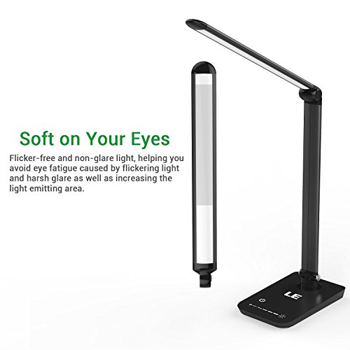 Le dimmable led desk lamp 7 dimming levels eye care 8w touch le dimmable led desk lamp 7 dimming levels eye care 8w touch sensitive daylight white folding desk lamps reading lamps bedroom lamps black aloadofball Images