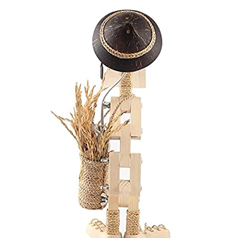 Sansukjai Woods Lamp Handmade Desk Lamp Light Fixtures Table Lamps Farmer Style Home Decor Gift (House Plans In Autocad)