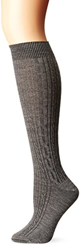 Ibex Outdoor Clothing Norse knee sock, Stone Grey Heather, Large
