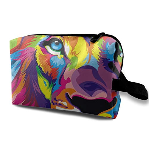 (Colorful Lion (2) Small Travel Toiletry Bag Super Light Toiletry Organizer for Overnight Trip)