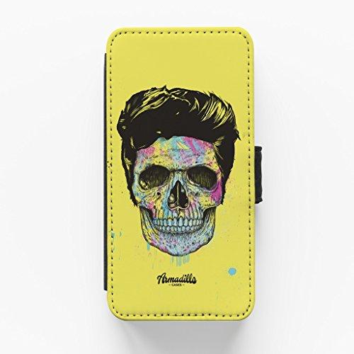 Colour Your Death Hochwertige PU-Lederimitat Hülle, Schutzhülle Hardcover Flip Case für iPhone 6 / 6s vom Balazs Solti + wird mit KOSTENLOSER klarer Displayschutzfolie geliefert