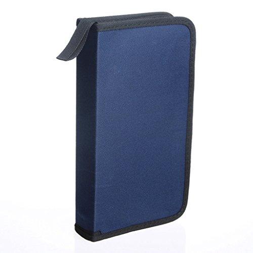 Usstore 1PC Storage Bag Orananizer Box CD VCD DVD 80 Discs Storage Holder Cover Carry Case (Big Red Disney Dvd)