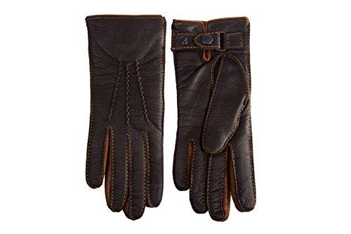 - Men's Cashmere Lined Deerskin Winter Gloves Brown (7.5, Brown)