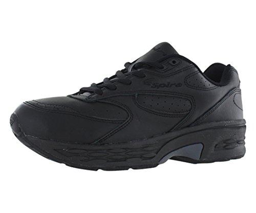 Spira Men's Classic Leather Walking Shoe,Black/Black,9.5 EEEE US (Walking Classic Mens Shoes Leather)