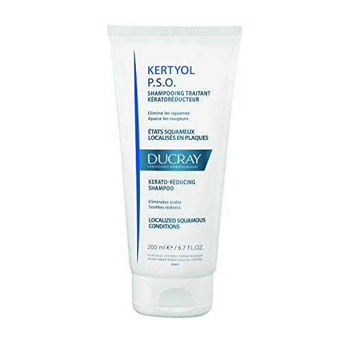 Ducray Kertyol P.S.O. Shampoo, Scalp Prone to Psoriasis, Micronized Sulfur, Salicylic Acid, Soothes Red, Irritated Scalp, 6.7 - Acid Shampoo Sulfur Salicylic