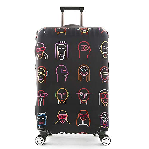 HBWZ Suitcase Cover Luggage Cover High-Elastic Boarding Case Travel Waterproof Case Suitable for 18-32in Suitcases,D,L