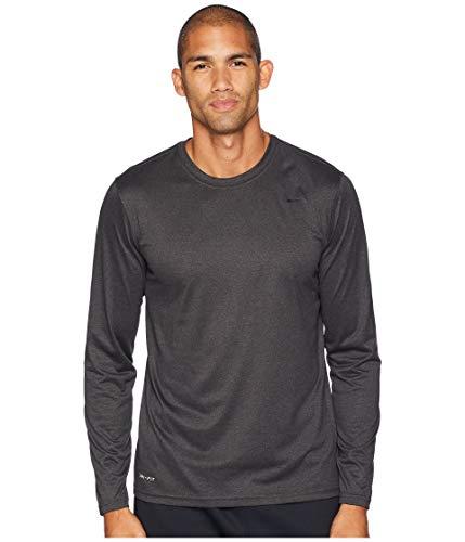 Nike Men's Legend Long Sleeve Shirt (Black Heather, Small)
