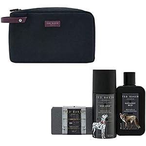 40cc9e877d TED BAKER Mens Washbag Gift Set HAIR   BODY WASH 200ML• BODY SPRAY 150ML•