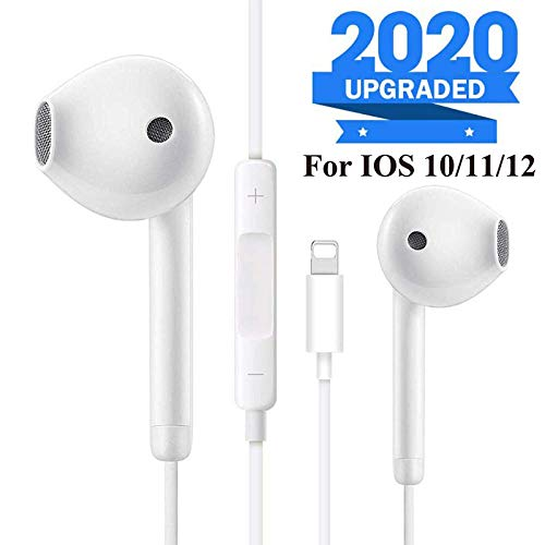 Lightting Earbuds/Earphones, Microphone Earphones Stereo Headphones Noise Isolating Headset Compatible with iPh0ne 7/7 Plus/8/8 Plus/X 10/XS/XS Max/XR