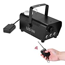 Andoer Colorful Wireless 400 Watt Fogger Fog Smoke Machine with LED Color Lights(Red, Blue, Green) Remote Control for Party Live Concert DJ Bar KTV Stage Effect