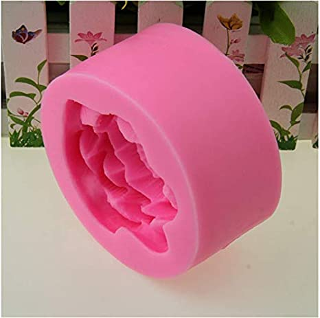 Great Mold Elegance Lotus Silicone Candle Mold for Candle Making Flower Soap Molds Blooming