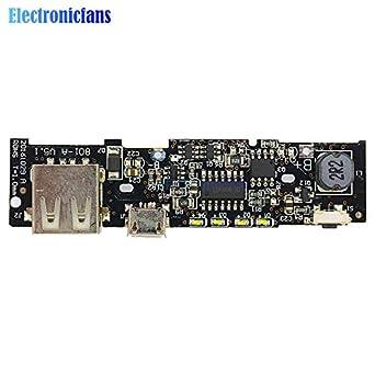 Amazon com: Batcus DIY 18650 Battery 5V 2 1A Power Bank