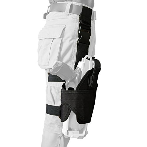 (EKIND Adjustable Tactical Leg Holster Compatible for Nerf N-Strike Elite Series Blaster (Black))