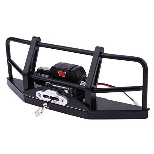 D90 Kit (Iainstars Metal Front Bumper+Remote Control+Winch Kit Model Car Parts for D90 D110)