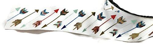 Foil Colored Arrow Grosgrain Ribbon - 3 Yards