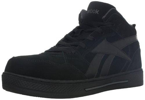 Reebok Work Men's Dayod RB1735 Safety Shoe,Black,11 M US (Suede Cap Black Belt)