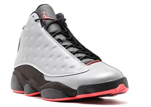 Jordan Air 13 Retro Premium 3M Men s Shoes Reflect Silver Infrared-Black 696298-023