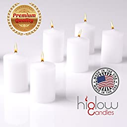 15 Hour Long Burning Elegant Paraffin Wax Unscented Best Votive Candles Set of 36 Great for Weddings - Holiday Parties or Any Event Dripless Made in USA