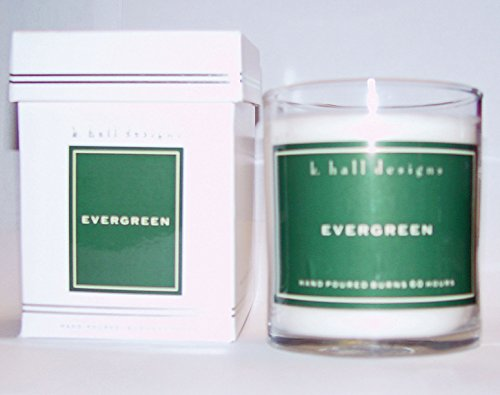 k.hall designs Evergreen Boxed Candle New Elegant Design Evergreen Soy Candle