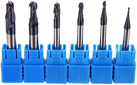 New 5pcs Ball Nose R2 x 4 Solid Coat Carbide Radius End Mill CNC Cutting tool