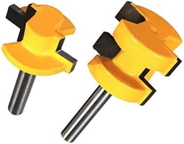 ルータービット 超硬刃ルータービット 木工用カッター 合金製 耐摩耗性 1/4インチシャンク2個