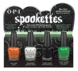 Opi Spookettes Mini Nail Lacquer Set One Glows In The Dark Amazon