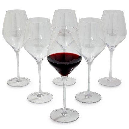 Sur La Table Crystal Mouth-Blown Red Wine Glasses HY16-03-001 , Set of 6 by Sur La Table