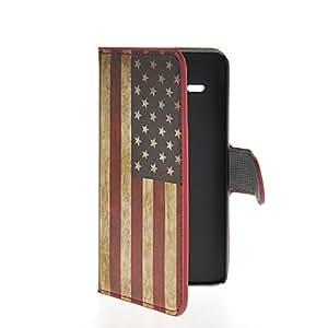 Semoss Diseño Retro Funda de Cuero Para Huawei Ascend Y530 Bandera Americana Flip Cuero Carcasa con práctica función de soporte /titular tarjeta