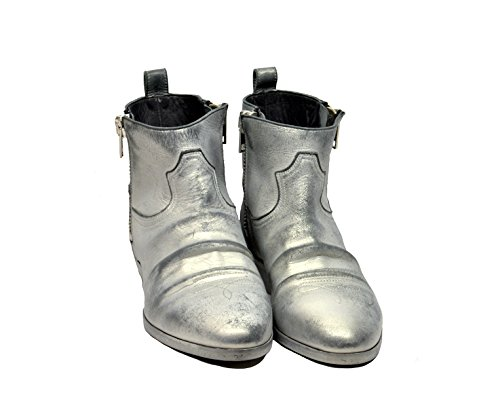 Goose Women's Golden G32WS279B6 Boots Leather Silver Ankle xqTzSzvA7