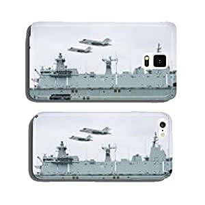 Aircraft carrier in the sea cell phone cover case Samsung S5