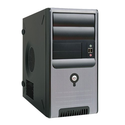 IN-WIN 350W TAC 2.0 MicroATX Mini Tower Case, Black/Silver Z583.CH350TB