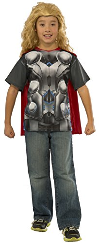 Rubie's Costume Avengers 2 Age of Ultron Child's Thor T-Shirt and Cape, Small (Avengers 2 Boys Thor Costume)