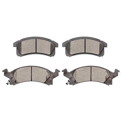 Ceramic Discs Brake Pads,SCITOO 4pcs Front Brake Pads Brakes Kits fit Buick Skylark,Chevy Beretta/Cavalier/Corsica,Oldsmobile Achieva/Cutlass Calais,Pontiac Grand Am/Sunbird/Sunfire Compatible -