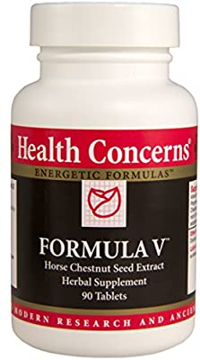 Health Concerns - Formula V - Horse Chestnut Seed Extract Herbal Supplement - 90 Tablets