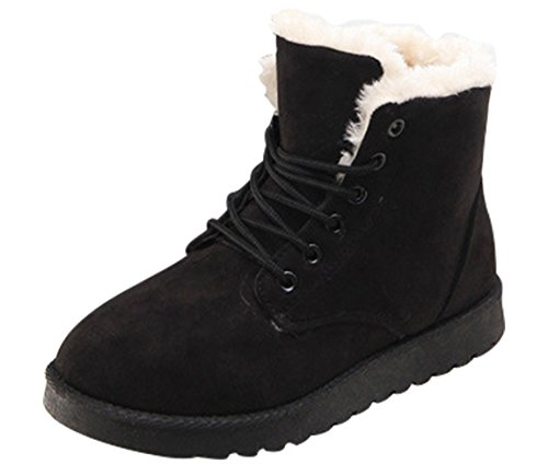 up Boots Snow Warm Black Winter Womens Boots Ankle Another Short Summer Lace BTqvw0q