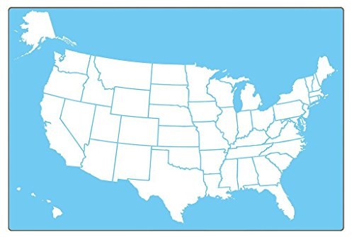 - Flipside Products 11222 18X12 Us Map Dry Erase Board, Two-Sided Blue/White (Pack of 12)