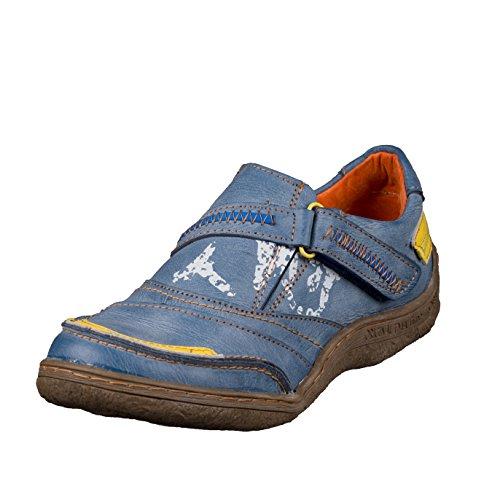 TMA EYES 1364 Klettschuh Gr.36-42 mit bequemen perforiertem Fußbett , Leder Blau