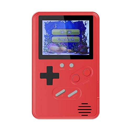 AckfulRetro Classic Game Console Handheld Portable 168 Built-in 2.4 Inch Games (Red)