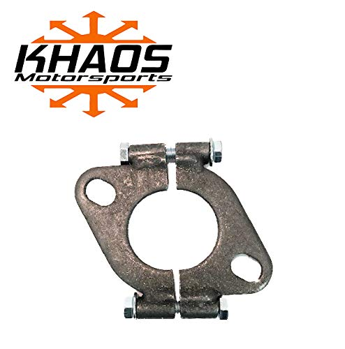 1 3/4' 1.75 inch Exhaust Flange Flat Oval Split Repair Replacement Khaos Motorsports