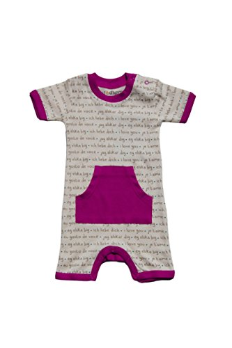 Cat & Dogma Certified Organic Infant Romper 0-3 Months - Languages