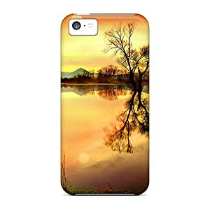 Top Quality Rugged Orange Scenery Iphone Wallpaper Case Cover For Iphone 5c