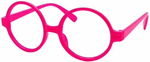 FancyG Retro Geek Nerd Style Round Shape Glass Frame NO LENSES - Hot -