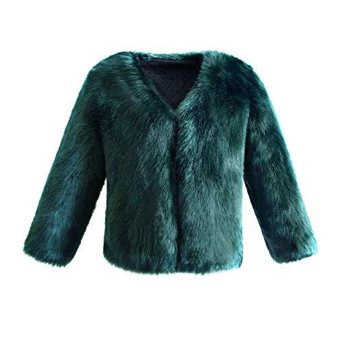 Fashion Outerwear Manteau Manche Confortables Chic Fourrure Femme Hiver De Manches De Cuir Uni Manteau Court Veste Grn Mode Fourrure Exquis Warm Qualit Bonne Faux en Doux Long Elgante AzwPgwq