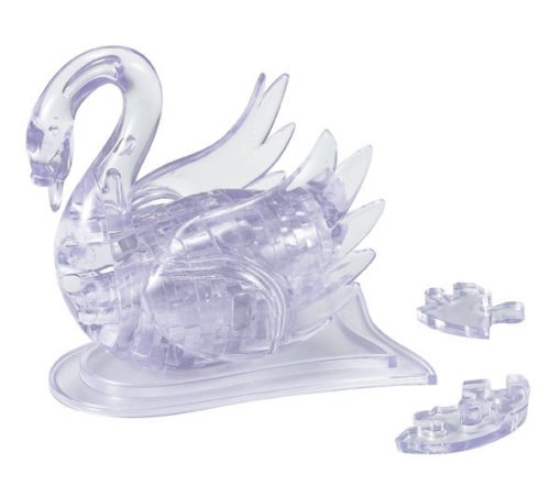 Crystal Puzzle Swan Clear