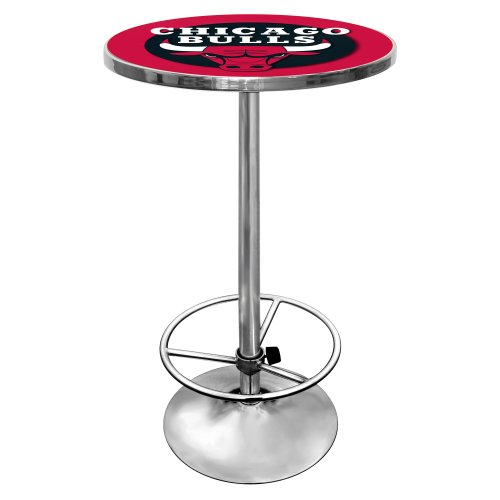 NBA Chicago Bulls Chrome Pub Table by Trademark Gameroom