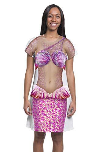 Ladies Pink Mermaid Dress (Medium)]()