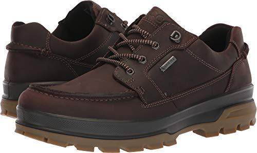 ECCO Men's Rugged Track Gore-TEX Moc Tie Hiking Shoe, Mocha, 44 M EU (10-10.5 - Mens Tie Toe Oxfords