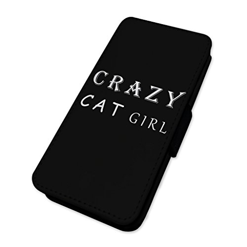 Crazy Cat Girl–Custodia ad aletta in pelle copertura di carta Apple Iphone 6 Plus/6s Plus