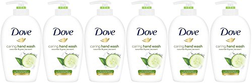 Dove Caring Hand Wash, Fresh Touch Cucumber & Green Tea, 250 Ml/8.45 oz (Pack of 6)