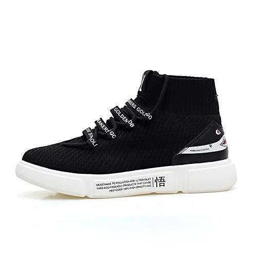 Liuxc Zapatillas de deporte Calcetines Altos, Zapatos, Zapatos Transpirables para Hombres, Parejas, Zapatos Altos y cómodos.: Amazon.es: Deportes y aire ...